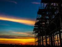 The picture of Construction site at Twilight time